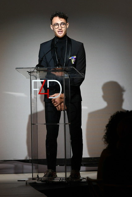 NEW YORK, NEW YORK - SEPTEMBER 24: Founder and CEO of the Arab Fashion Council, Jacob Abrian speaks onstage during Fashion 4 Development's 9th Annual Official First Ladies Luncheon at The Pierre Hotel on September 24, 2019 in New York City. (Photo by Mike Coppola/Getty Images  for Fashion 4 Development )