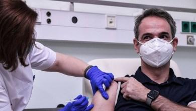 صورة عملية الحرية: تم اجراء الجرعة الثانية من اللقاح بواسطة ميتسوتاكيس