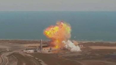 صورة انفجار النموذج الاولي لصاروخ Starship اثناء الهبوط