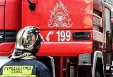 صورة اندلاع حريق في معرض لبيع السيارات المستعملة في أثينا