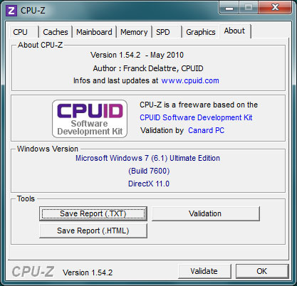 About CPU-Z