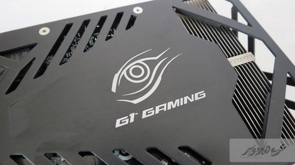شعار G1.Gaming على الجهة الخلفية