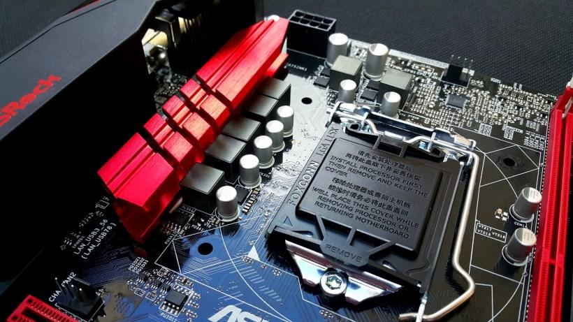 Asrock B150M Combo G CPU Area