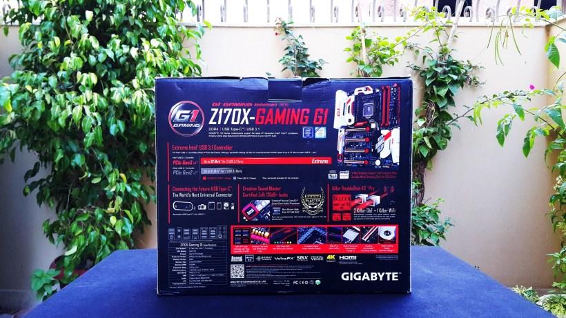 Gigabyte Z170X Gaming G1 Box Back