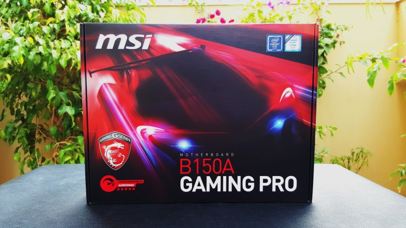 2- MSI B150A Gaming Pro Box Front