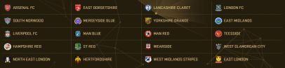 فرق الدوري الانجليزي في لعبة PES 2017