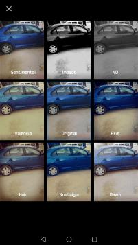 التطبيق يحتوى أيضاً على عدة فلاتر مختلفة للصور التى قد تلجأ إلى تطبيقات طرف ثالث لولا وجودها