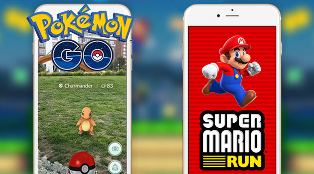 لعبة Super Mario Run vs لعبة Pokemon Go