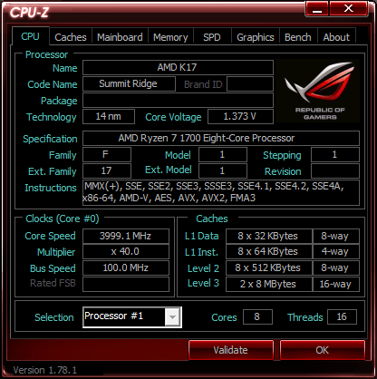 AMD RYZEN 7 R7 1800X R7 1700X R7 1700