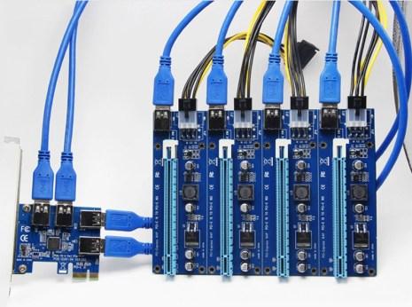 جنون Biostar يجعلها تكشف عن لوحة أم تضم 104 منافذ USB لتعدين العملات!!