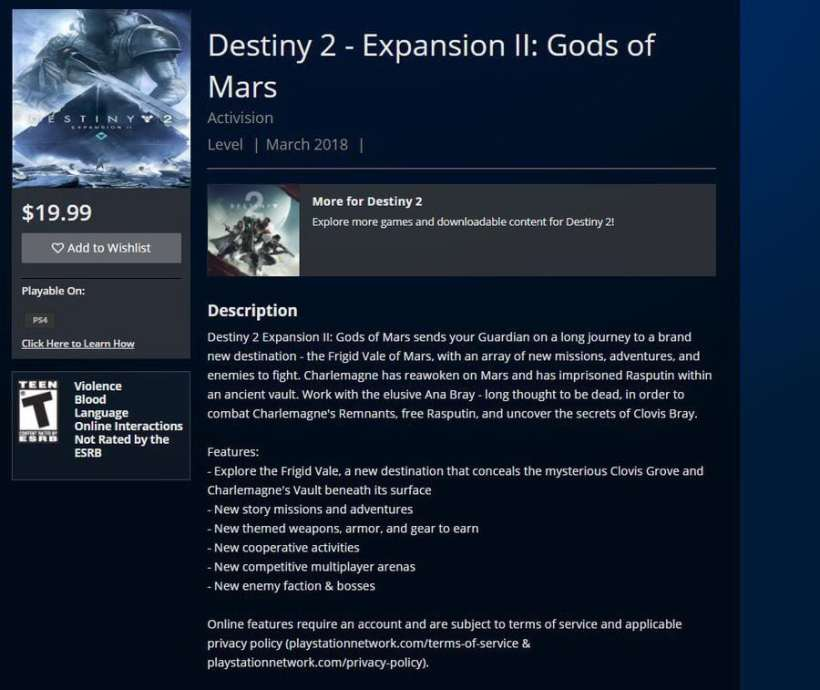 Destiny 2: Gods of Mars
