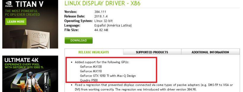 بطاقة NVIDIA GeForce GTX 1050 Ti جديدة بتصميم Max-Q