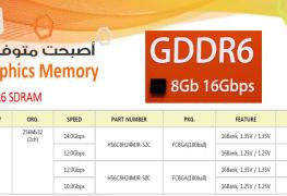توفر رقاقات ذاكرة SK Hynix 8Gb GDDR6 يجعل انفيديا و AMD مهتمتان بها