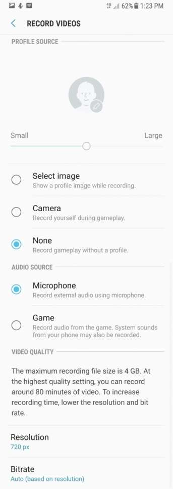 Game Mode on Galaxy A8