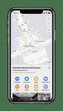 Apple Maps ، indoor maps ، خرائط داخلية