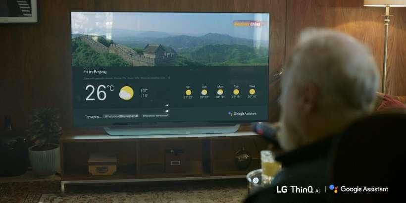 إل جي تطلق مساعد جوجل google على تليفزيونات LG 2018