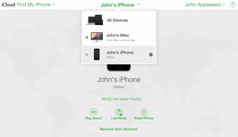 ثانياً: فتح هاتف آيفون المقفول باستخدام خاصية Find My iPhone