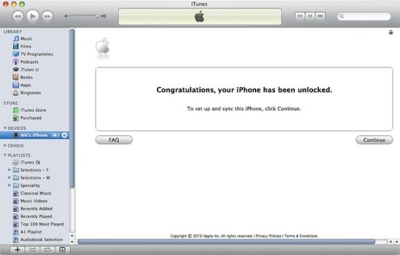فتح هاتف آيفون المقفول باستخدام iTunes