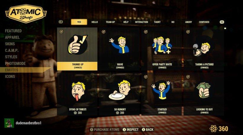 Fallout 76 microtransactions