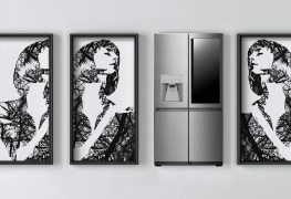 ثلاجة LG SIGNATURE بأبواب تُفتح تلقائياً
