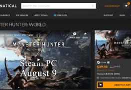 Montser Hunter World PC Capcom Fanatical Black Friday Sale