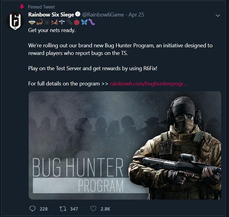 Rainbow six siege Bug hunter