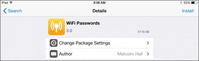 تثبيت تطبيق WiFi Passwords