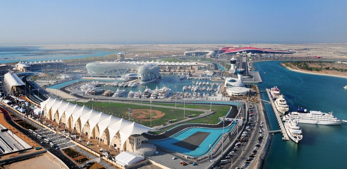 Aerial view of Yas Island