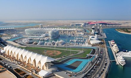 How far is Yas Island?