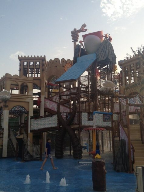 One of the kids areas at Yas waterworld