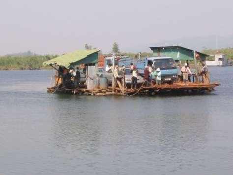 A very unusual car ferry!