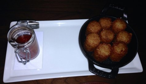 Tater tots with brie
