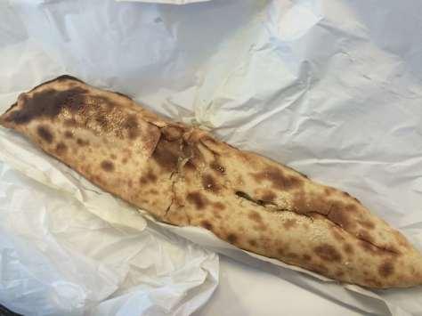Spicy potato Roti from street bakery