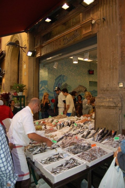 Fish market in the Quadrilatero, Bologna