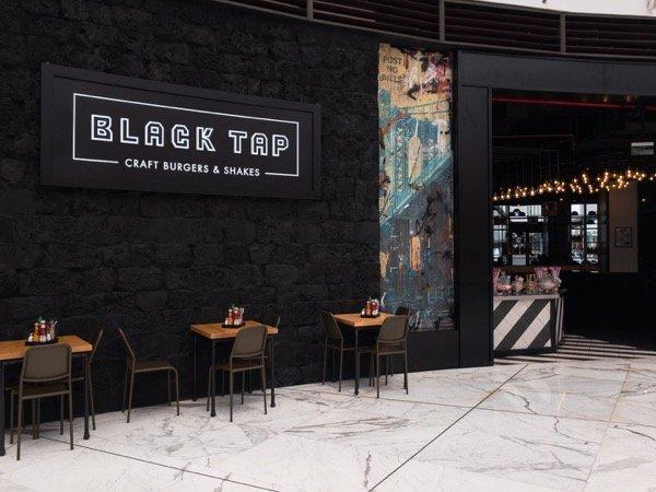 Black Tap Abu Dhabi entrance and facade