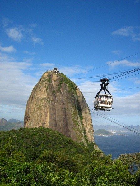 """Photo credit: """"Rio de Janeiro - Pão de Açucar - Cablecar"""" by Wutzofant."""