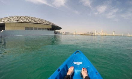 Kayaking at the Louvre Abu Dhabi