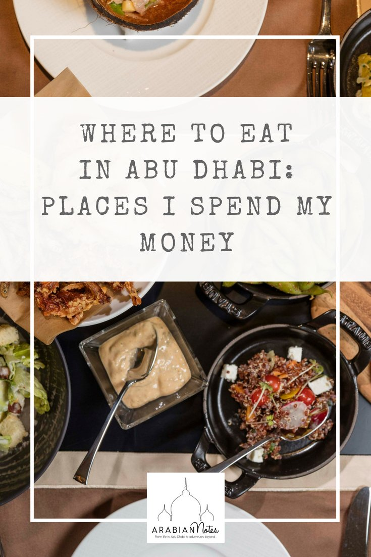 Want to know where to eat in Abu Dhabi? As a blogger I\'m often asked about the best places to eat, and more specifically where I spend my own money.