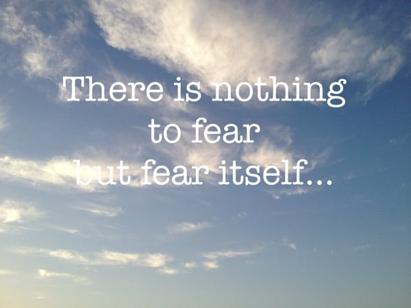 nothing to fear but fear itself - Arabian Notes