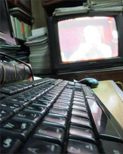 TV and keyboard