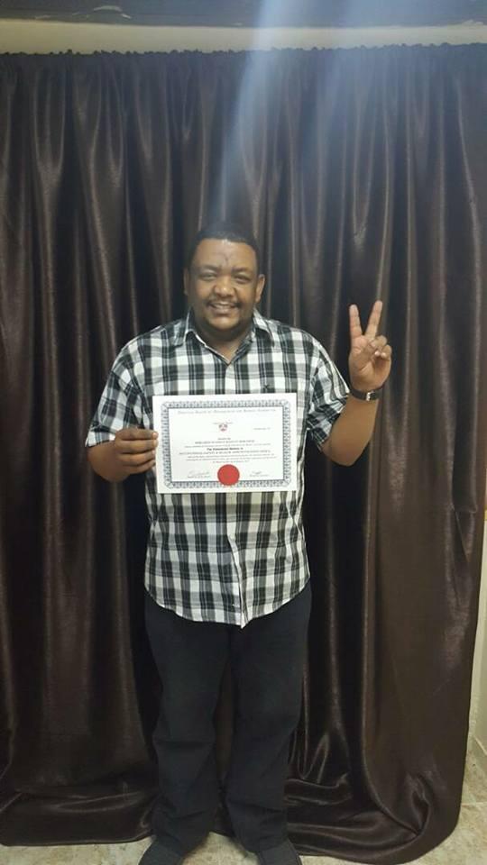 أول الحاصلين علي شهادة الدبلوم المهني للاوشا من البورد الأمريكي للإدارة والموارد البشرية بمركز الرؤية السابعة السودان