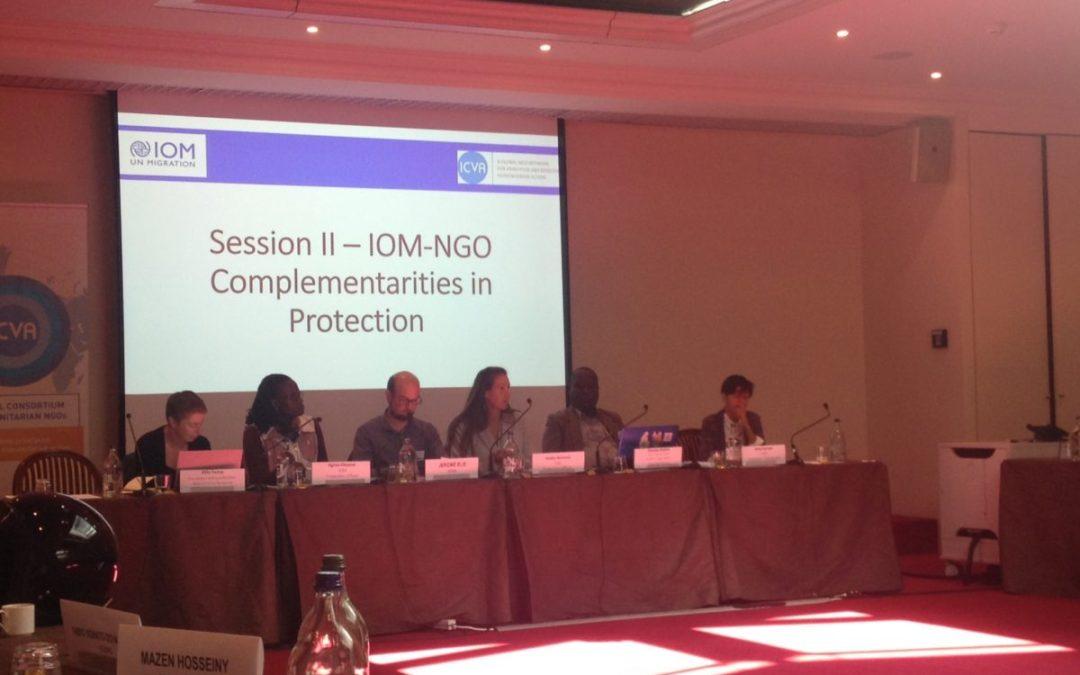"""""""عامل"""" في مؤتمر المنظمة الدولية للهجرة حول قضايا المهاجرين والاتجار بالبشر في جنيف"""
