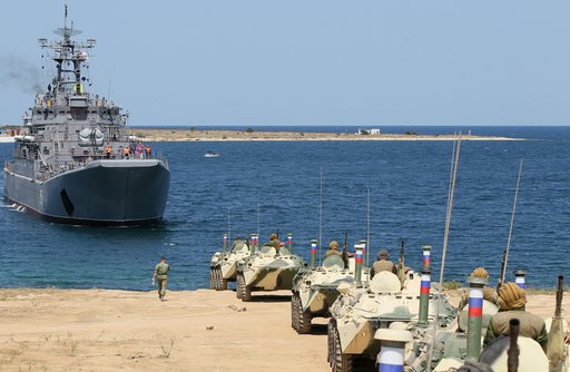 Russian landing ship heading to the Mediterranean end of the month