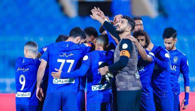 Saudi Hilal squad in today's match against Al-Batin in the Saudi League