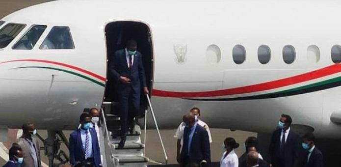 """وصول نائب رئيس المجلس السيادي الانتقالي السوداني الفريق أول محمد حمدان دقلو """"حميدتي""""، إلى أديس أبابا (صورة ارشيفية)"""