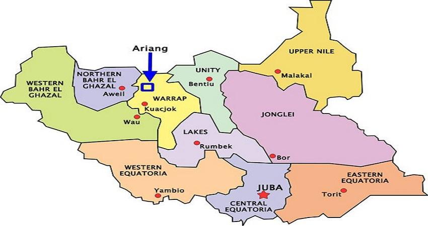 ولايات جنوب السودان العشر (مصدر الصورة: ويكيبيديا)