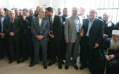 وهاب شارك في تشييع الست زهر أرملة الشيخ أبو حسن عارف حلاوي في معصريته