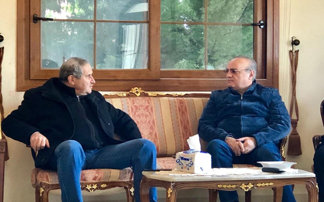وهاب زار رئيس بلدية الشويفات زياد حيدر وعرض معه أوضاع الشويفات الإنمائية
