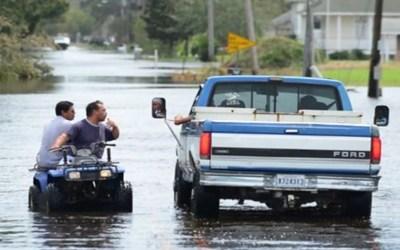 فيضانات في مدينة نيو أورلينز الأميركية المهددة بعاصفة قد تتحول الى اعصار