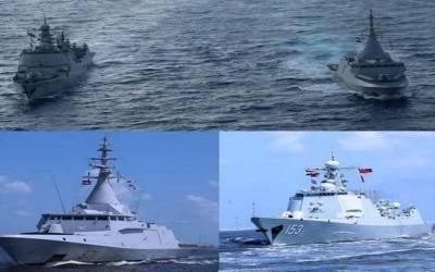 القوات البحرية المصرية والصينية تنفذان تدريبا بحريا عابرا في البحر المتوسط
